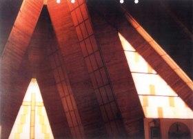 Fragment wnętrza w kościele w Wilkowicach