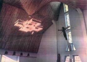 Kościół w Kleszczowie - fragment wnętrza